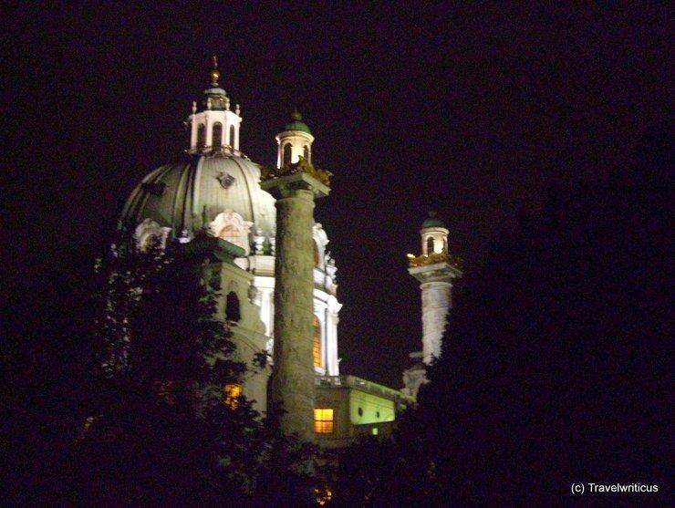 Karlskirche by night (Vienna)