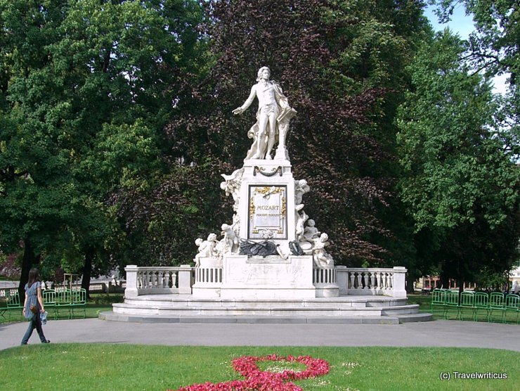 Monument to Mozart in Burggarten, Vienna