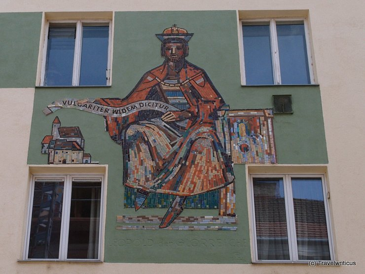 Mural of Leopold the Glorious in Vienna, Austria