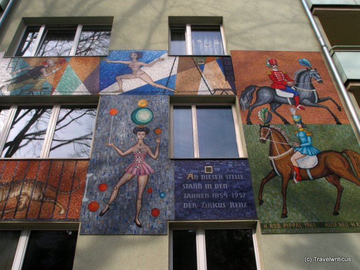Mural at Renzhof in Vienna, Austria