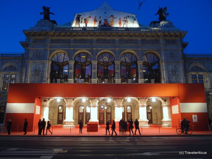Entrance of the Vienna State Opera