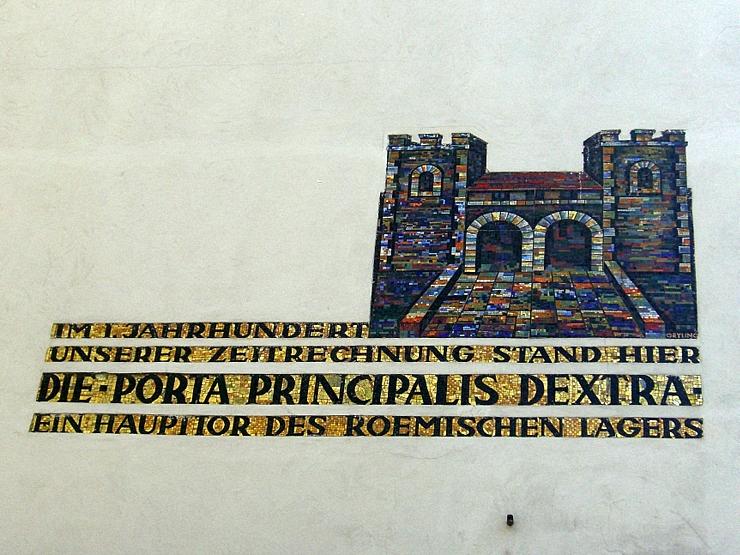 Porta principalis dextra in Vienna, Austria