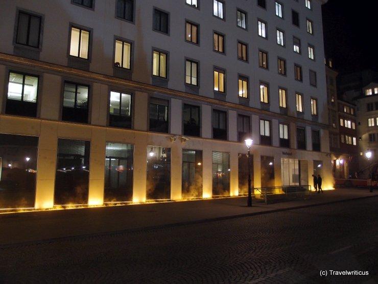 Yellow fog at the Verbund Headquarters in Vienna, Austria