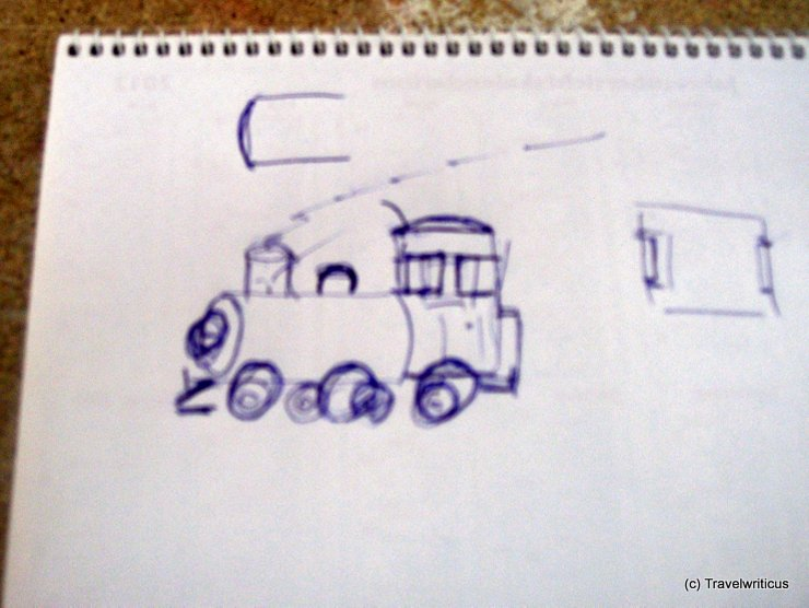 Scetch of a steam locomotive