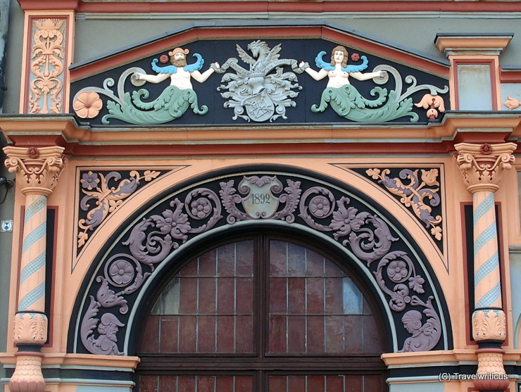 Detail of the Cranach House in Weimar, Germany