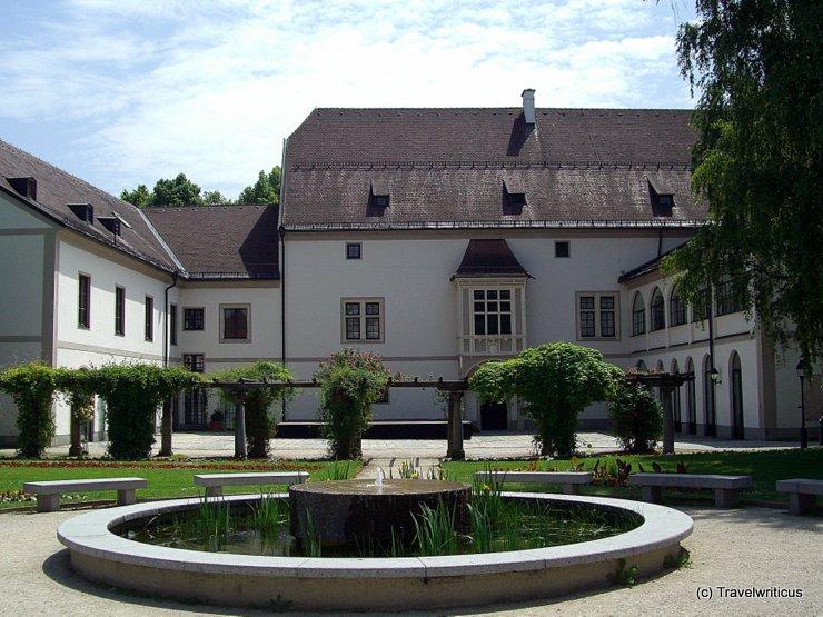 Gardenside of the Burg in Wels, Austria