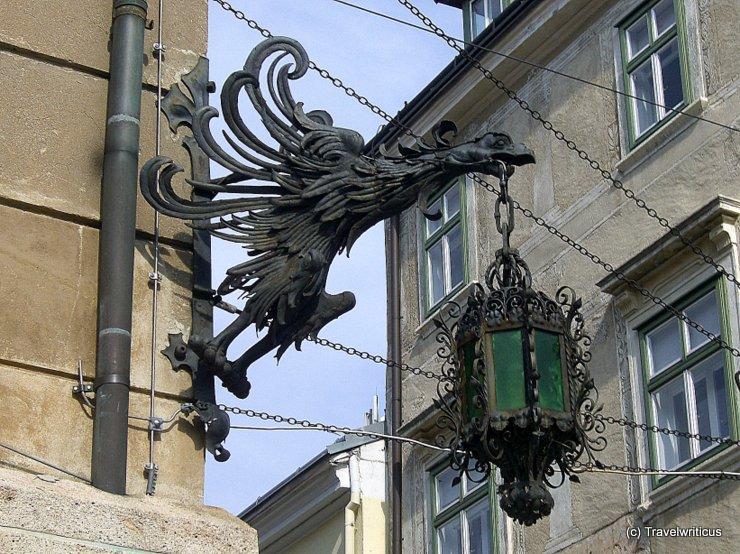Old lantern in Wiener Neustadt, Austria
