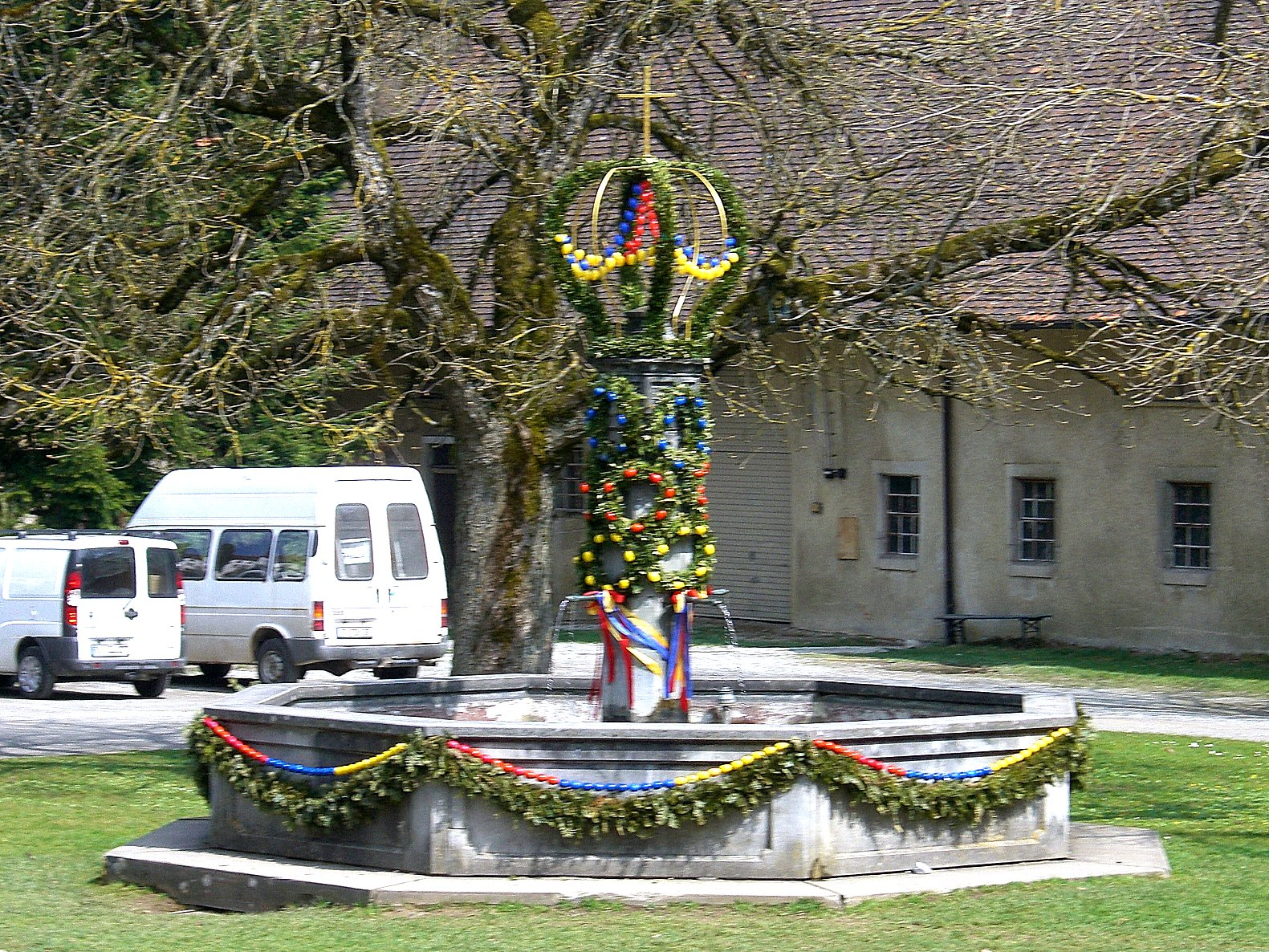 Osterbrunnen (Easter well) in Wolfegg, Germany
