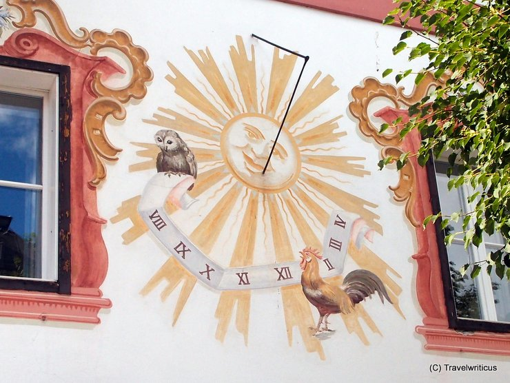 Sundial in Zell am See, Austria