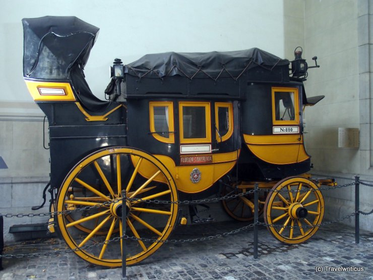 Old Gotthard mail coach in Zurich, Switzerland